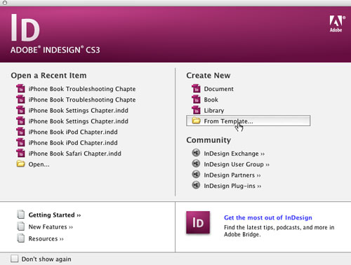 InDesign Resources for Learning and Using InDesign