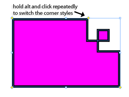 Cutting and Formatting Corners in InDesign CS5