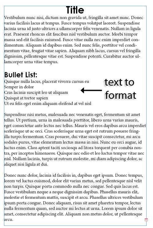 1 - Adding and Formatting Bullets and Numbering in InDesign CS5