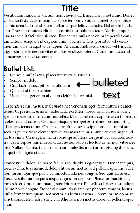 4 - Adding and Formatting Bullets and Numbering in InDesign CS5