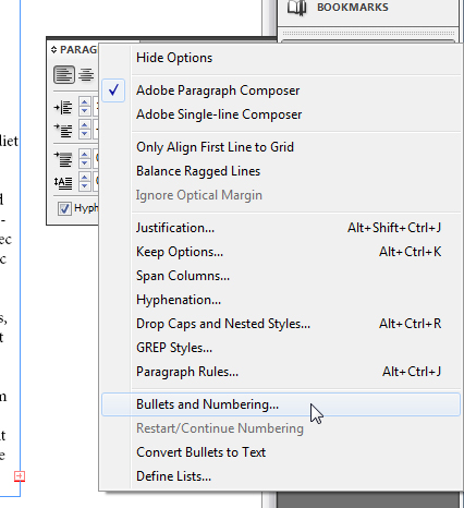 5 - Adding and Formatting Bullets and Numbering in InDesign CS5