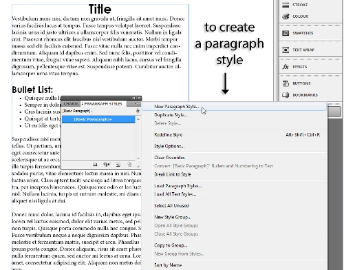 8 - Adding and Formatting Bullets and Numbering in InDesign CS5