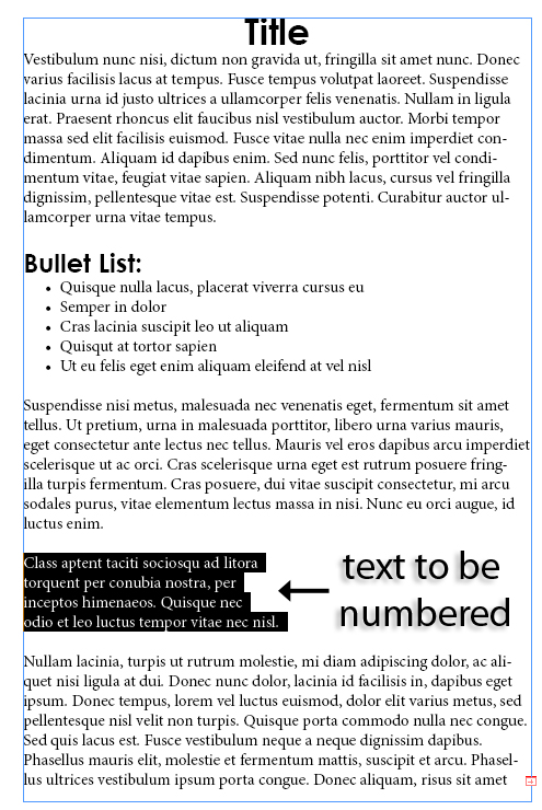 9 - Adding and Formatting Bullets and Numbering in InDesign CS5