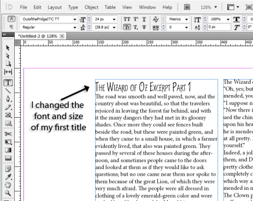2 - Using Character and Paragraph Styles in InDesign CS5