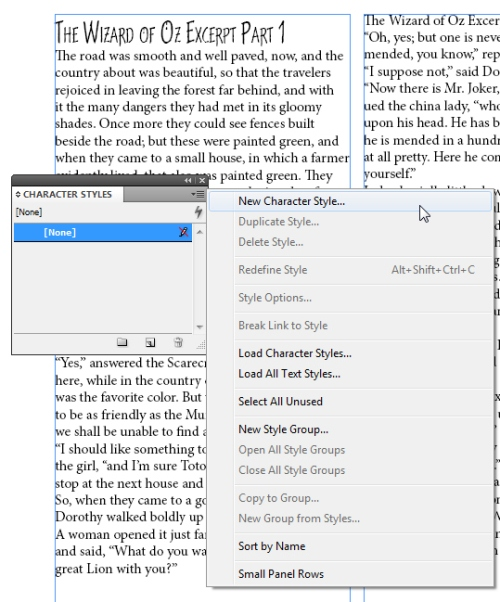 3 - Using Character and Paragraph Styles in InDesign CS5