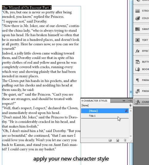 5 - Using Character and Paragraph Styles in InDesign CS5