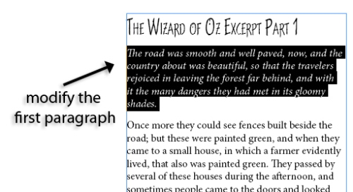 6 - Using Character and Paragraph Styles in InDesign CS5