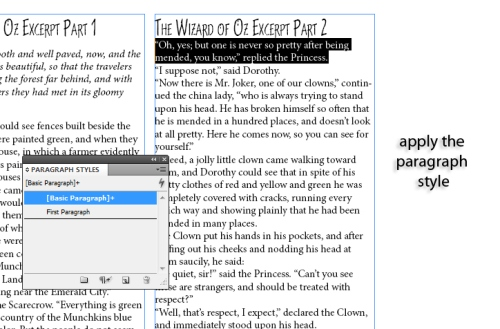 9 - Using Character and Paragraph Styles in InDesign CS5