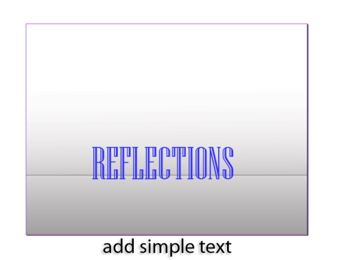 2 - Creating a Text Reflection in InDesign CS5
