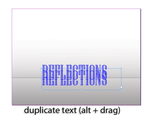 3 - Creating a Text Reflection in InDesign CS5