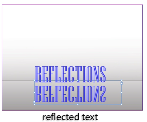 5 - Creating a Text Reflection in InDesign CS5