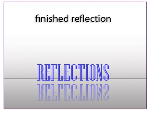 Creating a Text Reflection in InDesign CS5