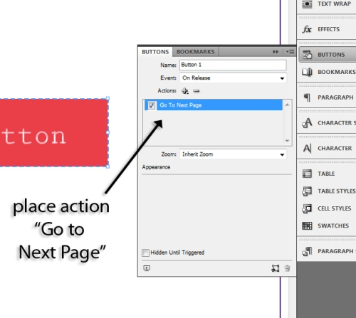 using interactive buttons pdf indesign