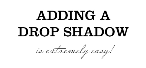 1 - Adding Drop Shadows to Your InDesign Documents