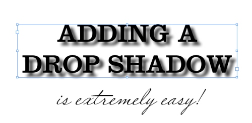 3 - Adding Drop Shadows to Your InDesign Documents