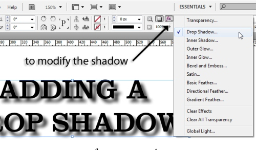 4 - Adding Drop Shadows to Your InDesign Documents