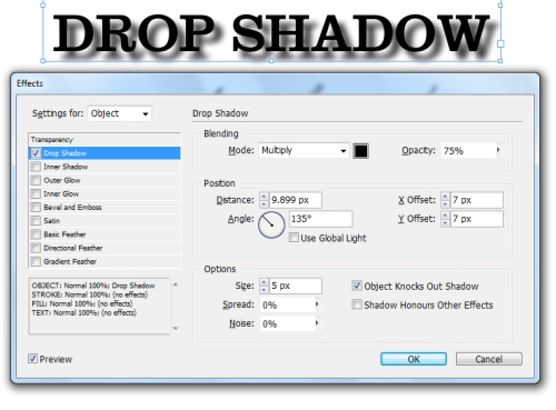 5 - Adding Drop Shadows to Your InDesign Documents