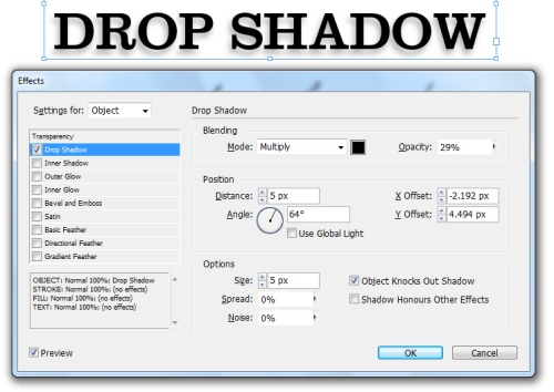 Adding Drop Shadows to Your InDesign Documents