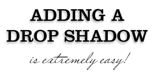 7 - Adding Drop Shadows to Your InDesign Documents