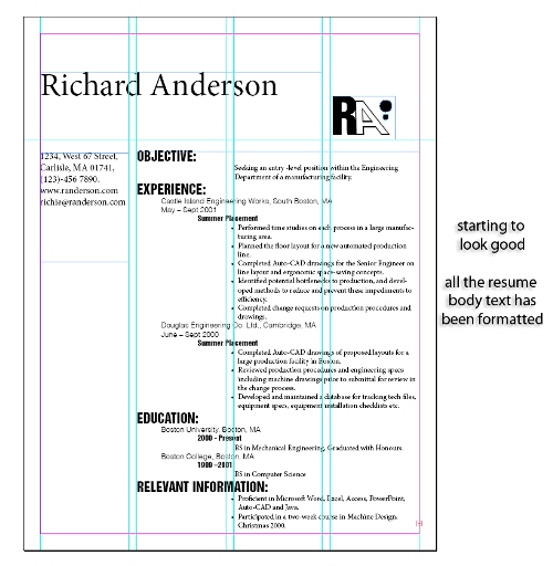 how to design a resume in indesign cs5 indesigntutorials