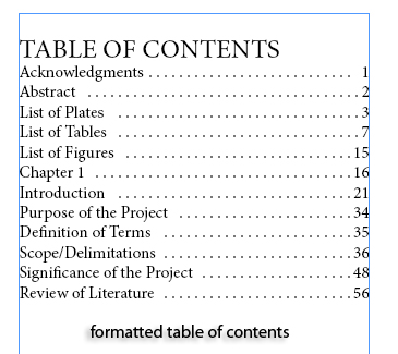 Creating A Simple Table Of Contents In Indesign Cs5 Indesigntutorials